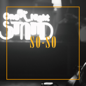 SO-SO「SO-SO〜One Night STAND LIVE〜」